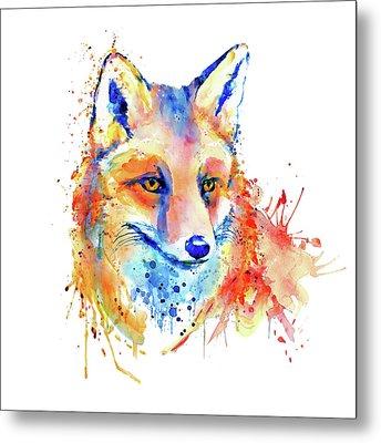 Cute Foxy Lady Metal Print