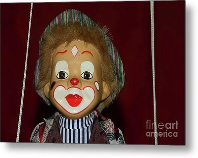 Metal Print featuring the photograph Cute Little Clown By Kaye Menner by Kaye Menner