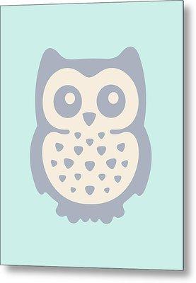 Cute Owl Metal Print by Julia Jasiczak