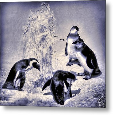 Cute Penguins Metal Print