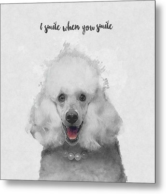 Cute Poodle Art Metal Print