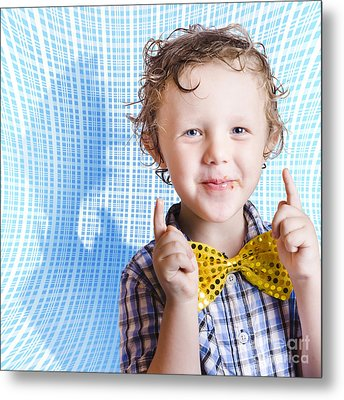 Cute Smiling Child Enjoying Easter Chocolate Metal Print by Jorgo Photography - Wall Art Gallery