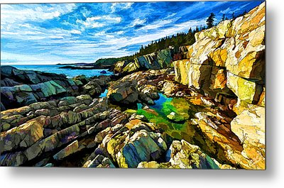 Cutler Coast At Fairy Head Metal Print by ABeautifulSky Photography