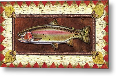Cutthroat Trout Lodge Metal Print by JQ Licensing