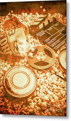 Cutting A Scene Of Vintage Film Metal Print by Jorgo Photography - Wall Art Gallery