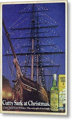 Cutty Sark Christmas Vintage Ad Metal Print