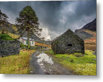 Metal Print featuring the photograph Cwmorthin Slate Ruins by Adrian Evans