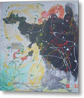 Cx 003 Remarkable Original And Forceful Metal Print by Mojie Wang