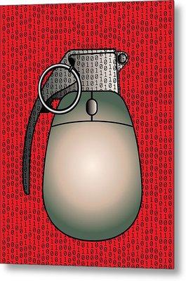 Cyber Warfare, Conceptual Artwork Metal Print by Stephen Wood