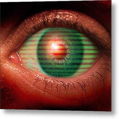 Cybernetic Eye Metal Print by Victor Habbick Visions