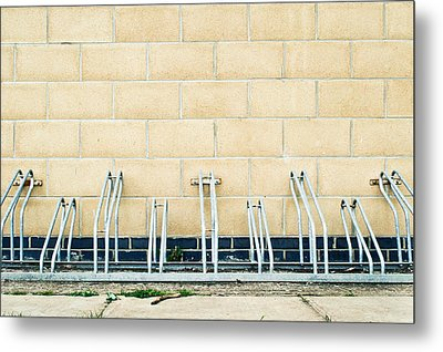 Cycle Racks Metal Print by Tom Gowanlock