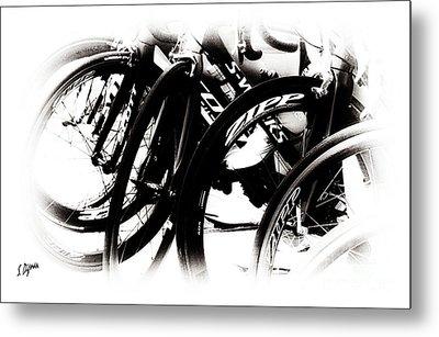 Cycling Art  Metal Print by Steven Digman