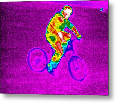Cycling, Thermogram Metal Print by Tony Mcconnell