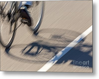 Cycling Two Metal Print by Kate Brown