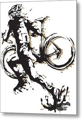 Cyclocross Poster1 Metal Print by Sassan Filsoof