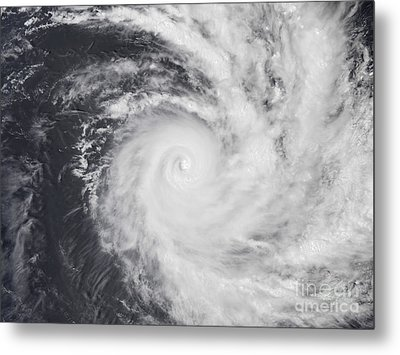 Cyclone Zoe In The South Pacific Ocean Metal Print by Stocktrek Images