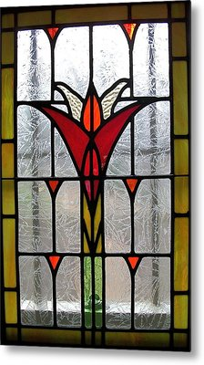 Cyndees Window Metal Print by Alan Carlson