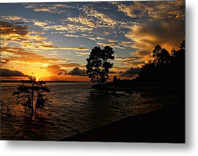 Cypress Bend Resort Sunset Metal Print by Judy Vincent