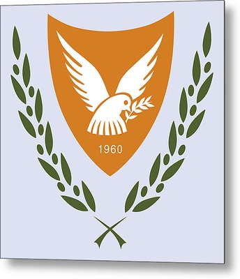 Cyprus Coat Of Arms Metal Print by Movie Poster Prints