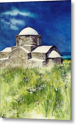 Cyprus The Old Church Metal Print