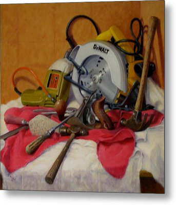 Metal Print featuring the painting D. I. Y.  1 by Donelli  DiMaria
