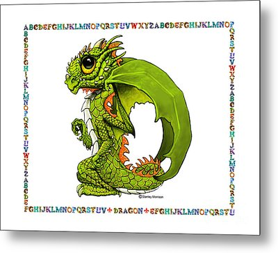 D Is For Dragon Metal Print by Stanley Morrison