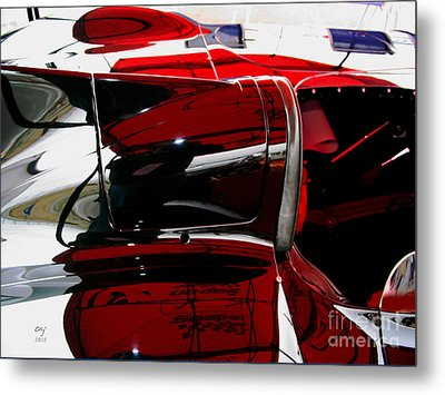 D Type Abstract Metal Print