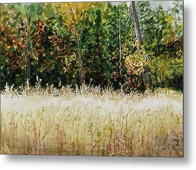 Metal Print featuring the painting D Vine by Lynn Babineau