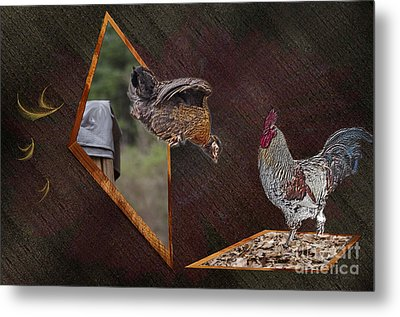 Dad Look I Am Jumping Metal Print by Donna Brown