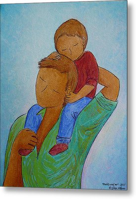 Daddy And Me Metal Print