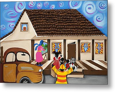 Daddy's Home Metal Print by Patricia Sabree