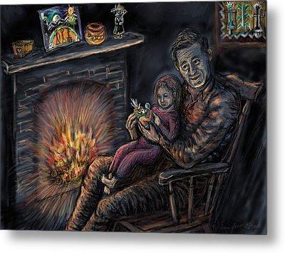 Daddy's Kachina Tales Metal Print by Dawn Senior-Trask
