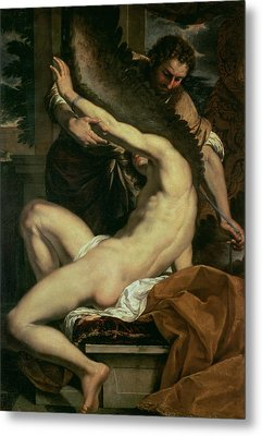 Daedalus And Icarus Metal Print by Charles Le Brun