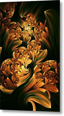 Daffodils Metal Print by Digital Art Cafe