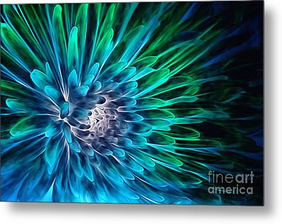 Dahlia Abstract Vibrance Metal Print by Mary Lou Chmura
