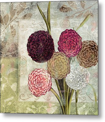 Dahlias For Donna I Metal Print by Mindy Sommers