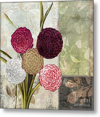 Dahlias For Donna II Metal Print by Mindy Sommers