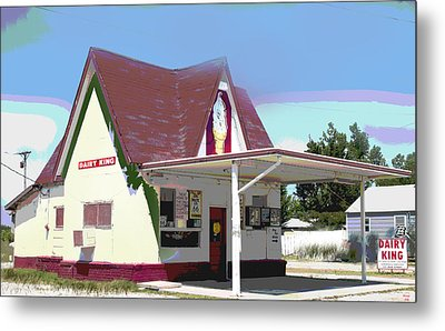 Dairy King Metal Print by Charles Shoup