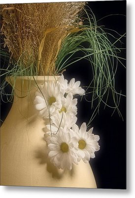 Daisies On The Side Metal Print