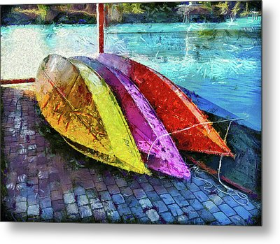 Metal Print featuring the photograph Daisy And The Rowboats by Thom Zehrfeld