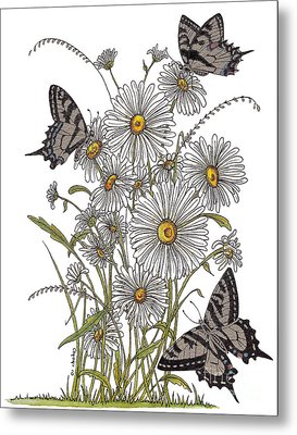 Daisy At Your Feet Metal Print by Stanza Widen
