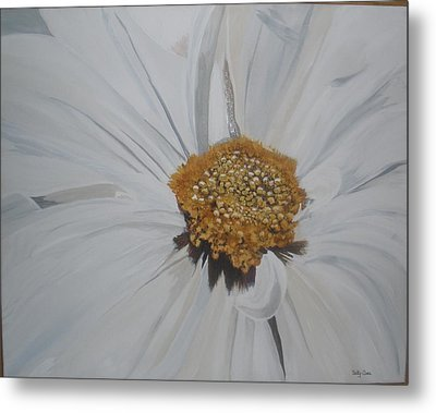 Metal Print featuring the painting Daisy by Betty-Anne McDonald