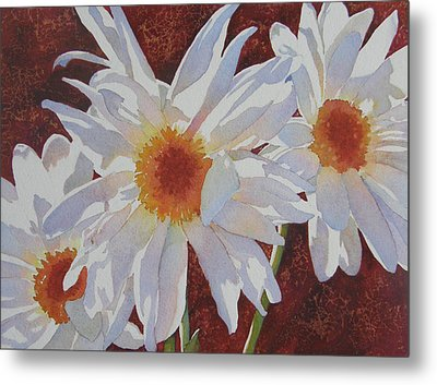 Metal Print featuring the painting Daisy Dazzle by Judy Mercer