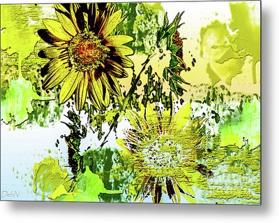 Sunflower On Water Metal Print