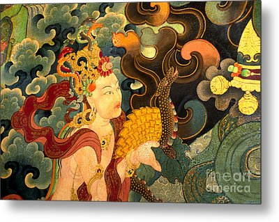 Dakini With Nagas - Sera Monastery Tibet Metal Print
