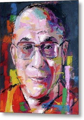 Dalai Lama Metal Print by Richard Day