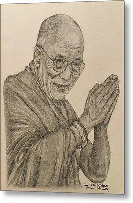 Dalai Lama Tenzin Gyatso Metal Print by Kent Chua