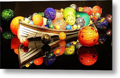 Glass Sculpture Boat Metal Print by Bruce Bley
