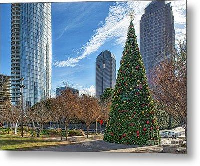Dallas Christmas Tree Metal Print by Tod and Cynthia Grubbs