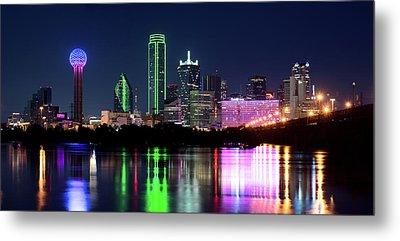 Dallas Colorful Night 52716 Metal Print